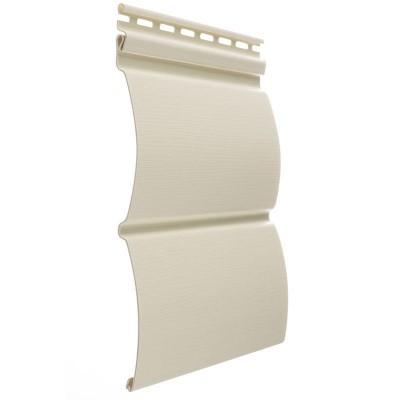 Сайдинг виниловый блок-хаус D4,7T (сливки)