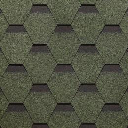 Гибкая черепица коллекции «Сота» (зеленый)