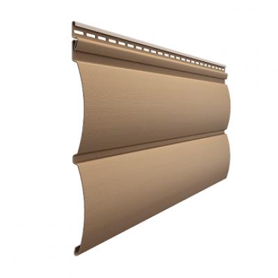 Сайдинг виниловый блок-хаус D4,7T (капучино)