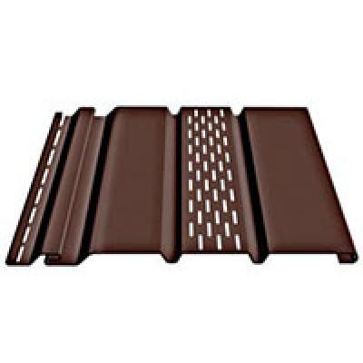 Софит с центральной перфорацией Döcke Premium T4 (шоколад)