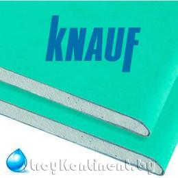 Гипсокартон Кнауф (Knauf) ГКЛВ влагостойкий 2500x1200x12,5
