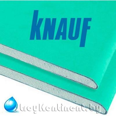 Гипсокартон Кнауф (Knauf) ГКЛВ влагостойкий 2500x1200x9,5