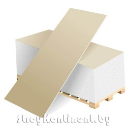 Гипсовая обычная плита ГСП тип А (ГКЛ) 2500x1200x12,5