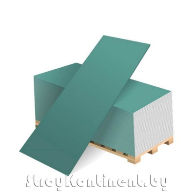 Гипсовая влагостойкая плита ГСП тип H2 (ГКЛВ) 2500x1200x9,5