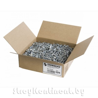 Ершённые гвозди оцинкованные Шинглас, 30х3,5мм (5кг/коробка)