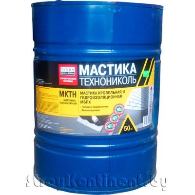 Мастика кровельная и гидроизоляционная ТехноНИКОЛЬ №24 «МКТН» (МБПХ), 50кг