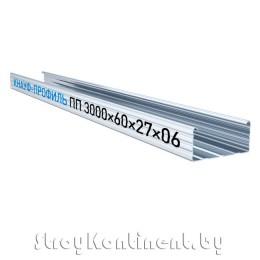 Металлический КНАУФ-профиль потолочный (ПП) 3000x60x27