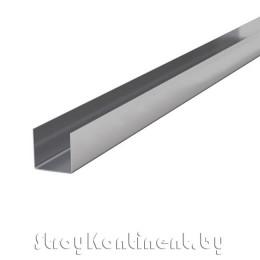 Металлический профиль направляющий (ПН) потолочный 3000x28x27