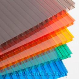 Поликарбонат сотовый цветной Sotek-5 2100x6000x6
