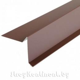 Торцевая планка (полиэстер) 90x20x75x15x2000 мм