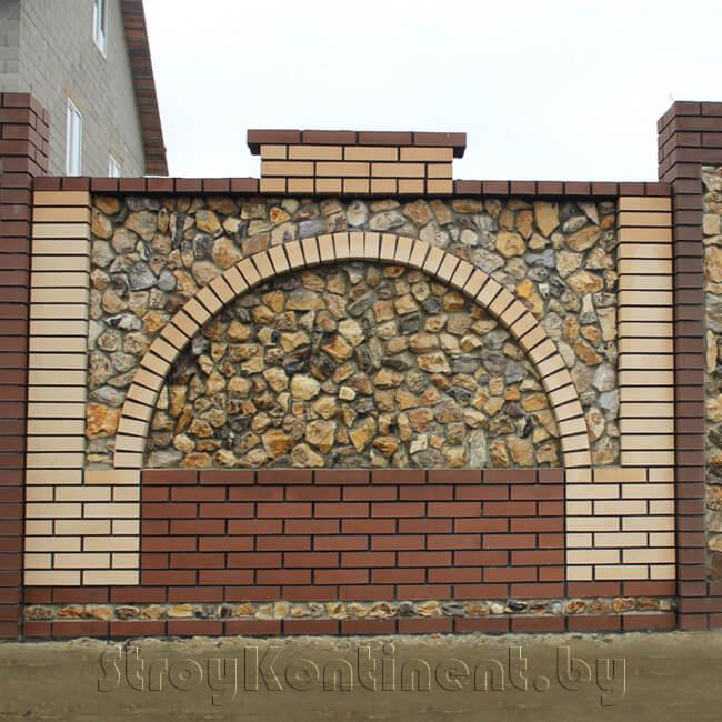 Каменные и кирпичные заборы