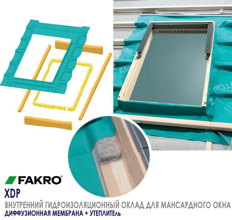 Особенности оклада для мансардного окна FAKRO XDP