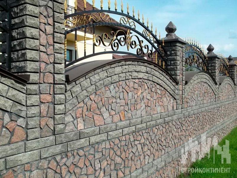 Установка каменных и кирпичных заборов в Витебске